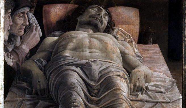 """Il """"Cristo morto """" di Andrea Mantegna, Pinacoteca di Brera, Milano"""