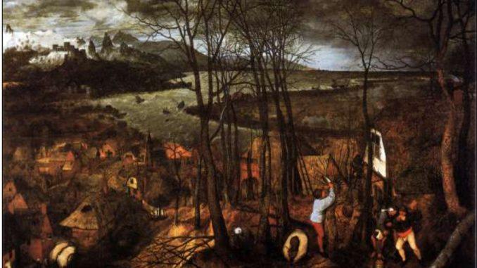 La Giornata buia, olio su tavola di Pieter Bruegel il Vecchio (1565) Vienna, Kunsthistorisches Museum.