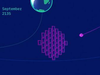 """Illustrazione dei """"buchi della serratura gravitazionali"""" in cui potrebbe infilarsi Bennu nel 2135. Crediti: Nasa/Goddard"""