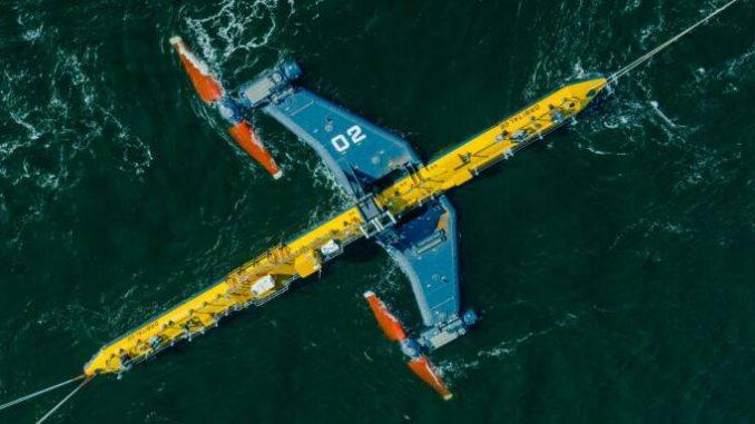 O2, la turbina mareomotrice più potente al mondo entra in funzione.