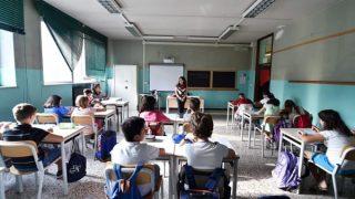 Un'immagine (pre covid) di un'aula scolastica. Foto Ansa