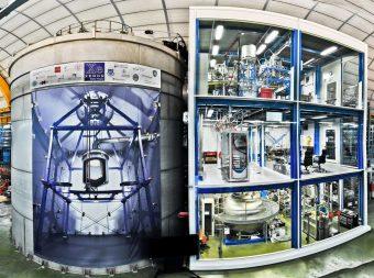 L'esperimento Xenon1T nei Laboratori nazionali del Gran Sasso. Crediti: Roberto Corrieri e Patrick De Perio