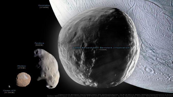 Bernardinelli-Bernstein, la cometa più grande mai vista finora in rotta verso il sistema solare